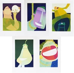 Artwork by Claude Le Sauteur, Le scabreux; L'humour noir; La farce; La parodie; Le ridicule