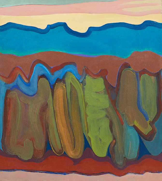 Artwork by Douglas Gibb Morton,  Twilight Banff