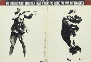 Artwork by Ronald Brooks Kitaj, Wir Haben es Nicht Vergessen: Nous N'Avons Pas Oublié: We Have Not Forgotten (From In Our Time: Covers for a Small Library After the Life for the Most Part, 1969-1970)