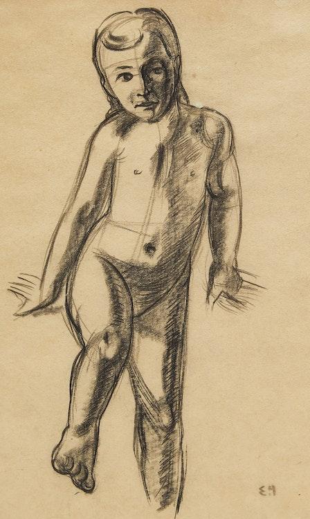 Artwork by Edwin Headley Holgate,  Study of Child