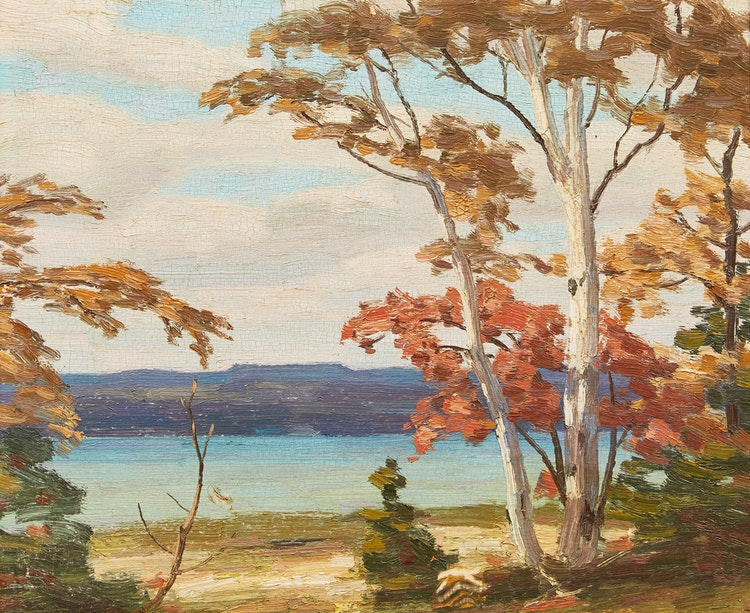 Artwork by George Thomson,  Autumn on the Bay