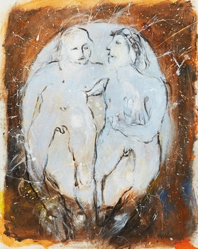 Artwork by Alexander Samuel Millar, Couple; Figure on Red
