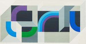 Artwork by Gordon Appelbe Smith, Blue Twist