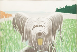 Artwork by Alex Katz, Dog at Duck Trap (Maravell 81)