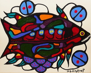 Artwork by Norval Morrisseau, Fish
