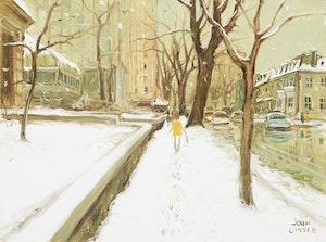 Artwork by John Geoffrey Caruthers Little, Sherbrooke Street West, Montreal