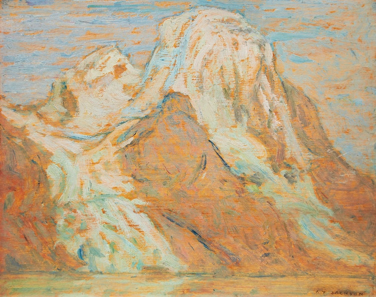 Artwork by Alexander Young Jackson,  Evening, Mount Robson from Berg Lake