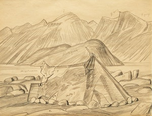 Artwork by Lawren Stewart Harris, Arctic Tent, Pangnirtung, Baffin Island