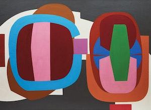 Artwork by Douglas Gibb Morton, Two with Grey (1965)