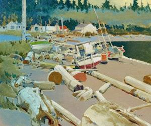 Artwork by Robert Genn, On the Beach at Alert Bay