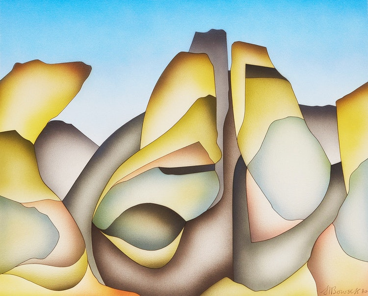 Artwork by Hendricus Bervoets,  Five Abstract Landscapes