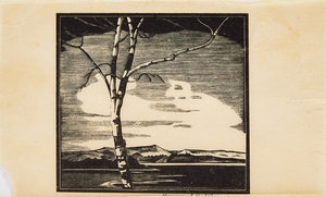 Artwork by Leonard Hutchinson, Tree in the Landscape