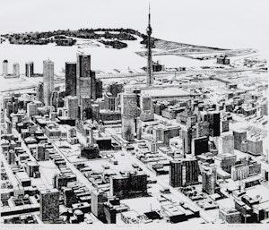 Artwork by Enid Robbie, Toronto, 1974 (In Praise of Cities, 2/3)