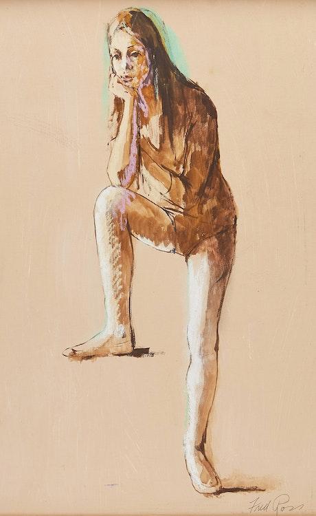 Artwork by Fred Ross,  Dancer Resting