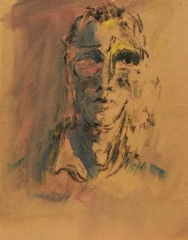 Artwork by Alexander Samuel Millar, Portrait of a Man; Christ; Abstract Landscapes (3); Thistle