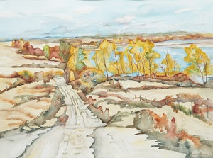 Artwork by Adeline Rockett, Road to Lake