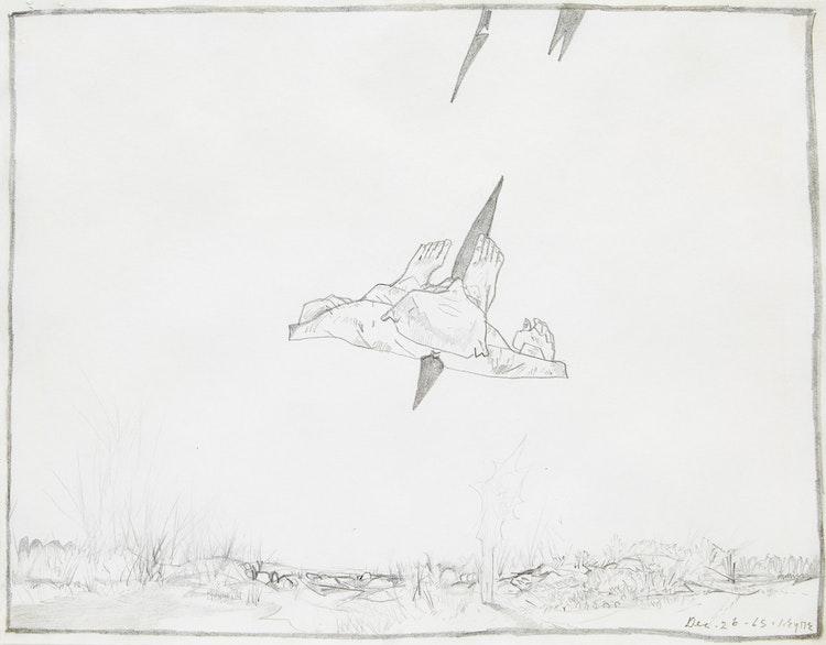 Artwork by Ivan Kenneth Eyre,  Untitled (Flying Figure)