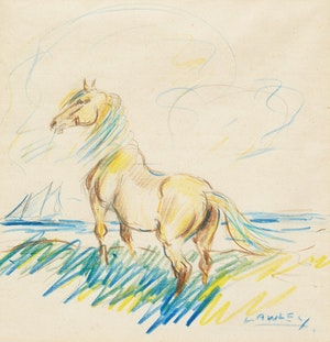 Artwork by John Douglas Lawley, Horse