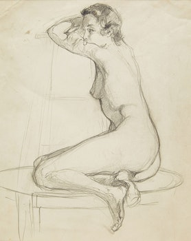 Artwork by Manly Edward MacDonald, Seated Nude