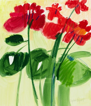 Artwork by Sophie Paquet, Floral Study