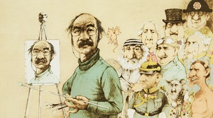 Artwork by Charles Bragg, Self Portrait with Models