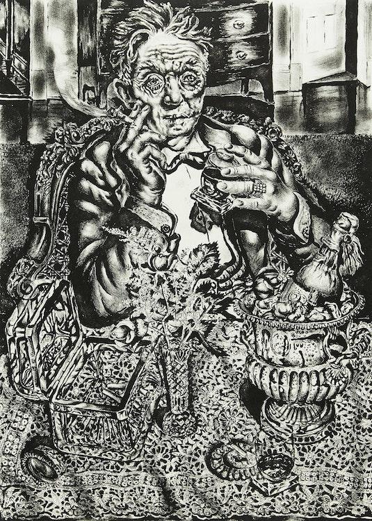 Artwork by Ivan Le Lorraine Albright,  Self Portrait at 55 East Division Street