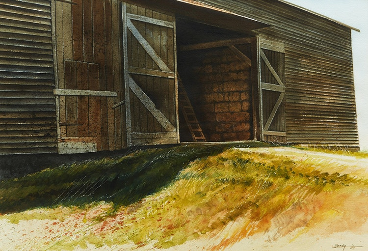 Artwork by Kenneth Danby,  Barn Door