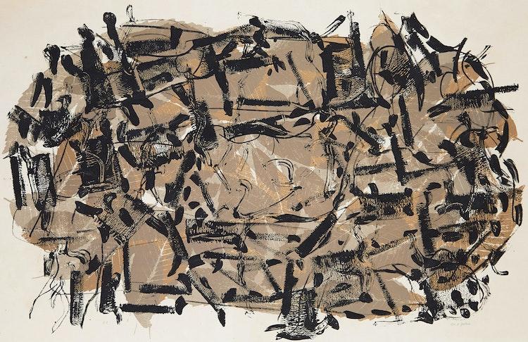 Artwork by Jean Paul Riopelle,  Feuilles II
