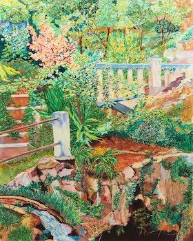 Artwork by Karen Kulyk, Jardin Exotique