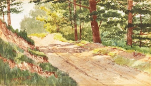 Artwork by Thomas Mower Martin, Country Road