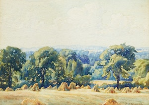 Artwork by Frederick Henry Brigden, Looking Down to Richardson's Old Farm