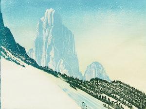 Artwork by Margaret Shelton, Mount Louis, Banff