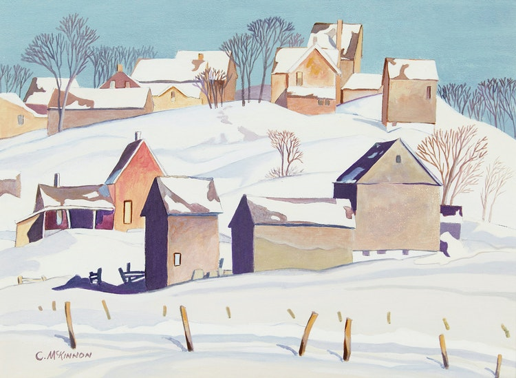 Artwork by C McKinnon,  Winter Landscape
