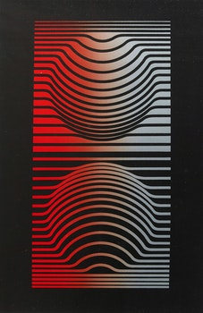 Artwork by Victor Vasarely, Sir Ris