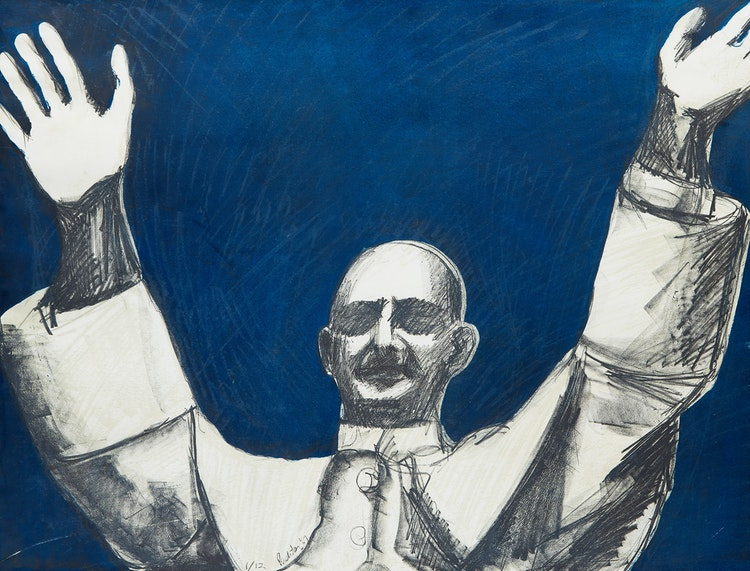 Artwork by Charles Pachter,  Pope