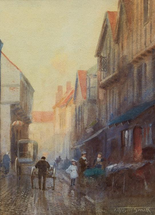 Artwork by Frederic Marlett Bell-Smith,  Street Scene