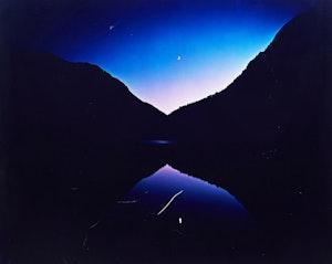 Artwork by Nathan Farb, Moon Rise at Lower Asable Lake