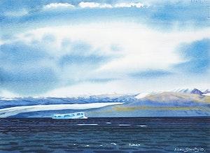 Artwork by Allen Smutylo, Arctic Landscape