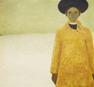 Artwork by Jean Paul Lemieux, Julie and the Universe; Portrait d'une jeune fille