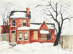 Artwork by John Kasyn, Old House on Oak Street