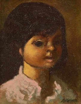 Artwork by William Arthur Winter, Portrait of a Young Girl