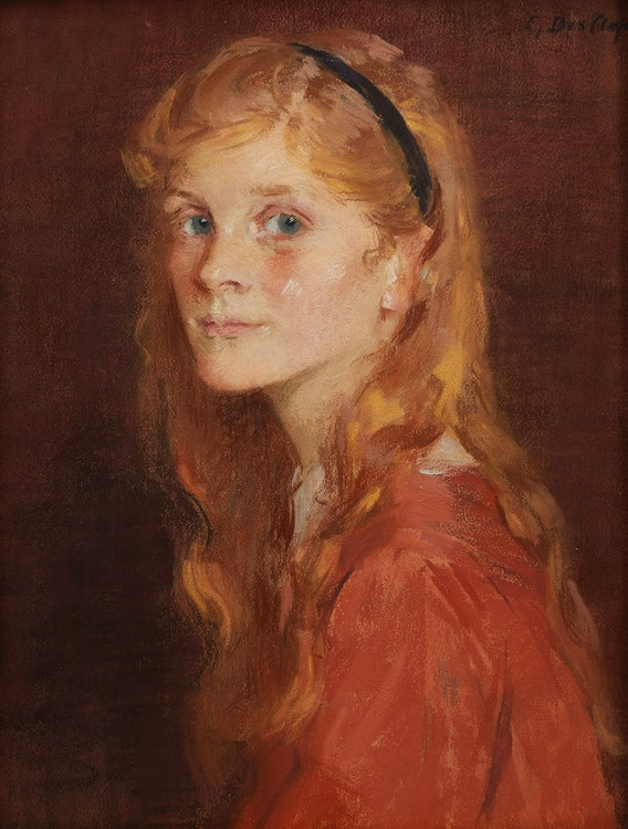Artwork by Gertrude Des Clayes,  Barbara, Daughter of F. Pitcher Esq.