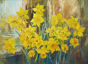 Artwork by Guttorn Otto, Daffodils