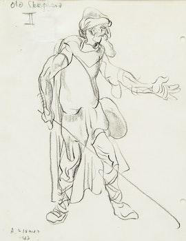 Artwork by Arthur Lismer, Old Shepherd II