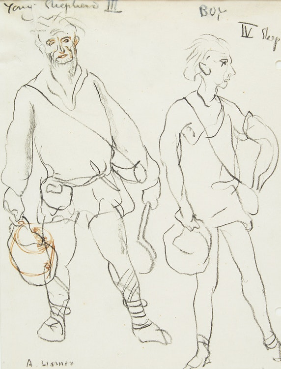 Artwork by Arthur Lismer,  Young Shepherd III, Boy IV