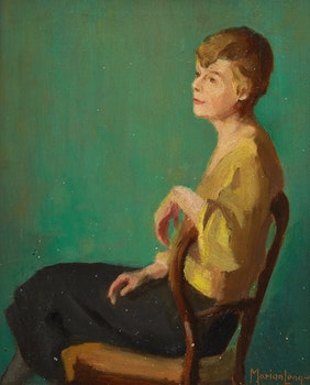 Artwork by Marion Long, Portrait of a Seated Woman (possibly Mrs. Appleby)