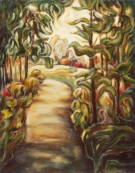 Artwork by Emilio Pica, Forest Landscape