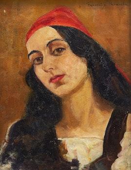 Artwork by Françoise Pagnuelo, Portrait of a Woman