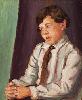 Artwork by Aleen Elizabeth Aked, Portrait of a Boy