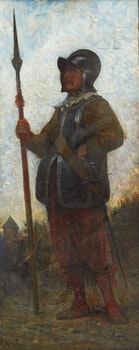 Artwork by Alfred Holst Tourrier, On Guard